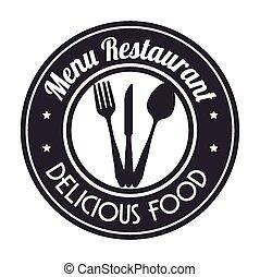 Food design, vector illustration - Food design over white...
