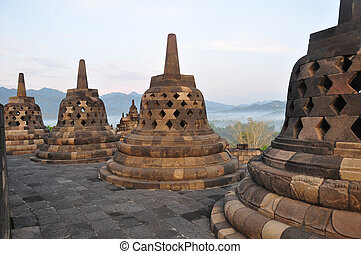 Borobudur Stupa - Stupa at Borobudur, Indonesia