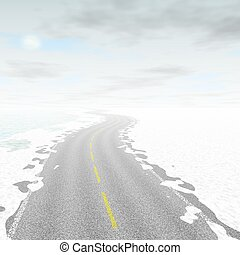 Abstract road landscape generated background