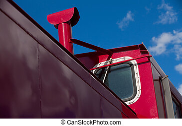 Detail of train caboose