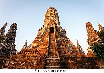Wat chai wattanaram, Old temple temple in Ayutthaya...