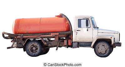 Sewerage service - Special vehicle with a tank isolated on a...
