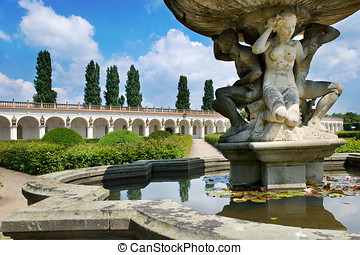 Flower gardens (UNESCO), Kromeriz, Czech republic -...
