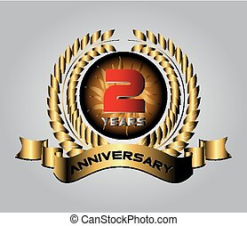 Celebrating 2 Years Anniversary - Golden Laurel Wreath...