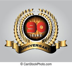 90 years Anniversary vector celebration