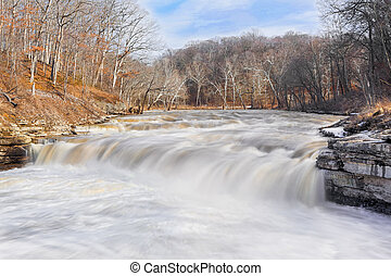 Lower Cataract Whitewater - Lower Cataract Falls, an Indiana...
