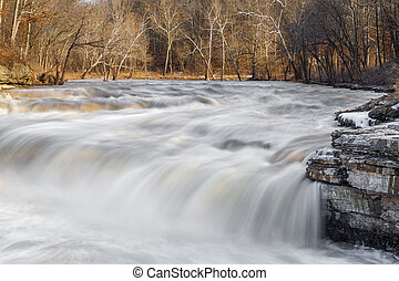 Spring Thaw Waterfall - Lower Cataract Falls, an Indiana...