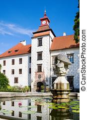 castle, Trebon, South Bohemia, Czech republic - TREBON,...