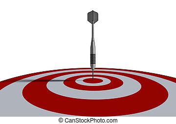 bullseye - business concept - 3d illustration