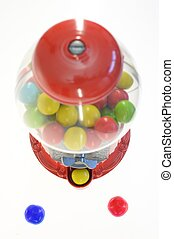 Bubble Gum Dispenser - A close up shot of bubble gum