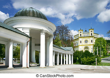 Carolina spring colonnade, spa Marianske lazne, Czech...