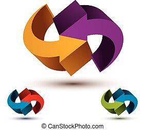 Infinite loop arrows vector abstract symbol, graphic design...