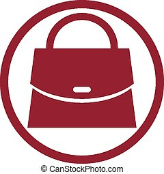 Woman purse vector icon.