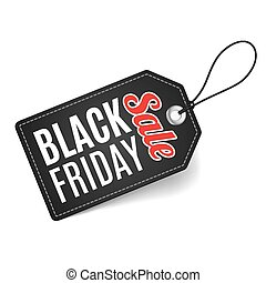 Black friday - Label on thread. Black Friday discounts,...