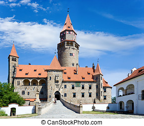 castle Bouzov, Czech republic - romantic castle from 13th...