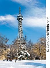 Observation tower Petrin, Prague, Czech republic -...