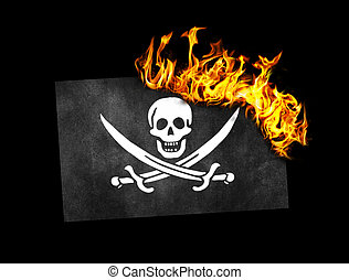 Flag burning - Pirate - Flag burning - concept of war or...