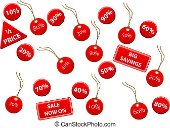 Sale Discount Tags - Set of sale discount tags. Available in...