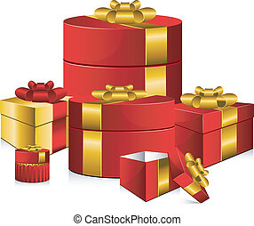 Gifts - Vector gifts. Isolated on white. EPS 8, AI, JPEG