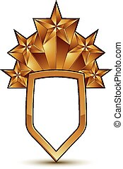 Sophisticated vector blazon with a