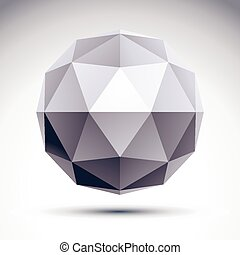 Abstract 3D polygonal object