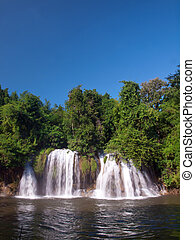 Sai Yok Lek Waterfall - Sai Yok Lek waterfall flow into...