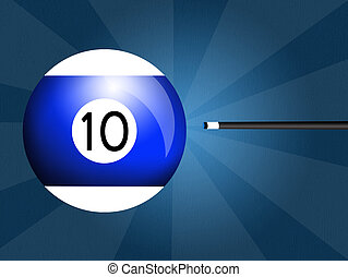 Billiards ball - illustration of billiards ball
