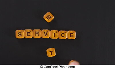 Orange Letter Blocks Best Service