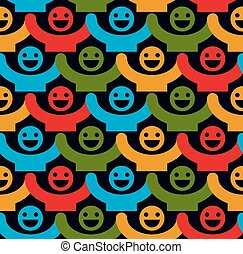 Seamless backdrop with smiley faces