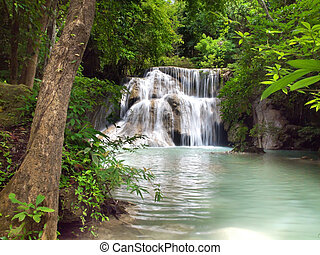 Huay Mae Kamin Waterfall - Third floor of Huay Mae Kamin...