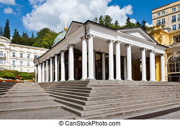 St. Cross spring colonnade, spa Marianske lazne, Czech...