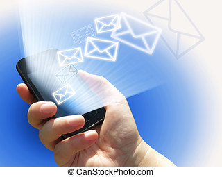 electronical communication - sending e-mails from mobile...