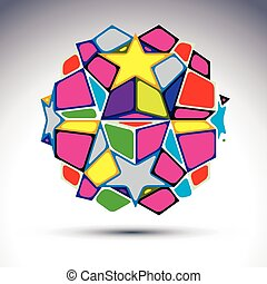 Vector abstract complex 3d orb, kal