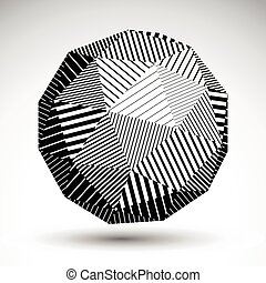 Abstract 3D rounded vector contrast