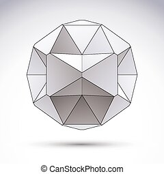 Abstract vector 3D object, clear ep