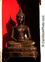 Red on Black Budda - Red on black Budda of Mea Sot