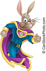 Easter Bunny Super Hero - A cute cartoon superhero Easter...