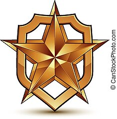 Vector glorious glossy design element with luxury 3d...