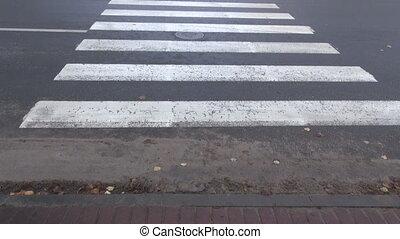 crossing city street - crossing city asphalt street