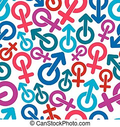 Gender symbols, sexual category the
