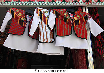 Child national wear. Turkmenistan. Ashkhabad market.