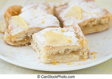 Lemon pie - Portions of lemon tart