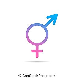 Transgender symbol icon - Vector linear icon transgender...