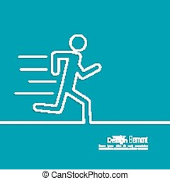 Running a human figure Haste urgent Care minimal Outline...