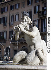 Piazza Navona - Fountain of the Moor in Piazza Navona in...