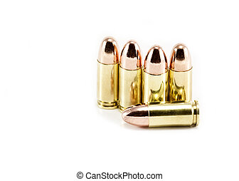 Five 9mm bullets