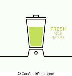 natural juice - Blender with freshly prepared natural...