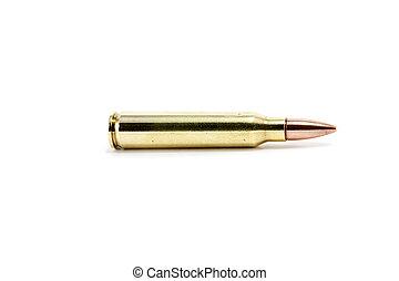 A single AK 47 round bullet