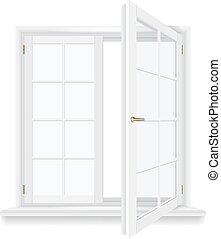 open window vector - open window isolated, detailed vector...