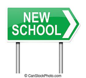 New school concept.